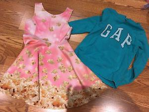 Popcorn dress (size 7/8) and Gap Hoodie (8/9)