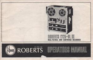 Roberts L III 8 track reel to reel recorder
