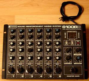 Tapco RB 6 Channel Mixer. Rack mountable.