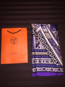brand new never worn HERMES silk scarf