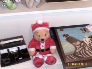 winnie the pooh with santa slippers