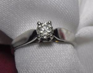 """14kt white gold.50ct """"Solitaire"""" Diamond Engagement Ring -"""