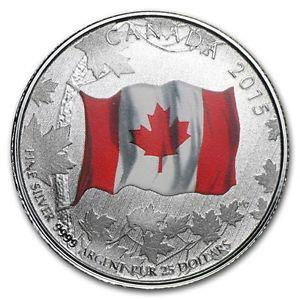 $25 Face Value Coin: 50th Anniversary of the Canadian Flag