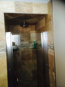 Adjustable brand new Fleurco shower door