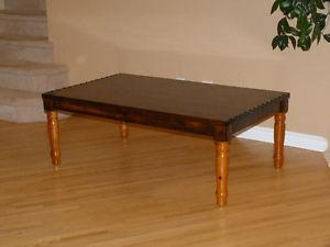 Beautiful Refinished Solid Yellow Pine Coffee Table (XL)