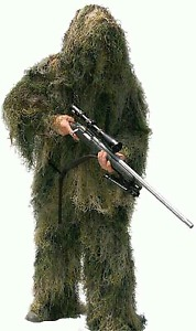 Brand New Full Ghillie Suit Woodland Camo XL Paintball