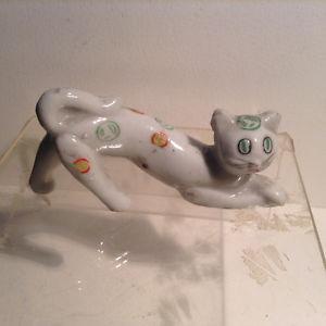 Ceramic Cat Figurine Japan Antiques