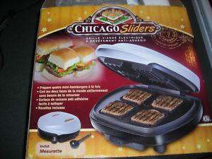 Chicago Sliders Non-Stick Electric Grill