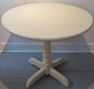 Early 20th C. DROP LEAF Table PEDESTAL Antique Vintage