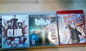 Games for playstation 3, 5$ or best offer each