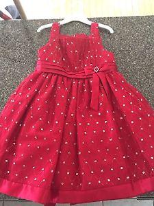 Girls red dress size 6