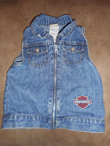 Harley Davidson Girl's Jean Vest