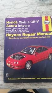 Haynes Repair Manual Honda Civic, Acura Integra and CR-V