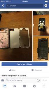 I phone 5s real tree otter box and batman case