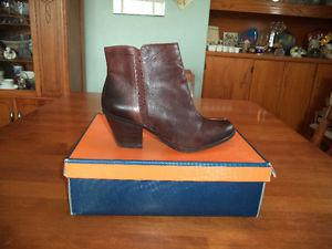 Ladies brown designer ankle boots