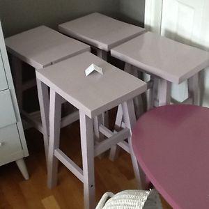 Light purple stools set of 4