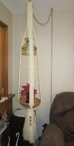 Macrama lamp/plant hanger
