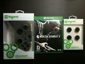 Mortal Kombat X for Xbox One With Controller Skin and Grips