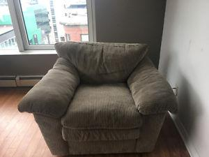 NEED GONE- Couch and Matching Chair, Super Comfy and Clean!