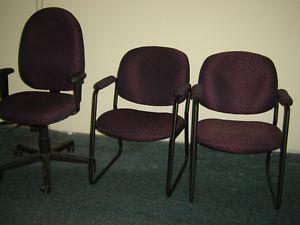 One used office chair with adjustable height and lumbar
