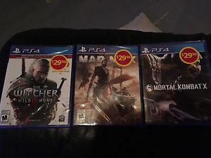 Ps4 games *BRAND NEW IN PLASTIC*