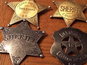 Replica metal western badges