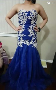 Royal Blue Mermaid Grad Dress