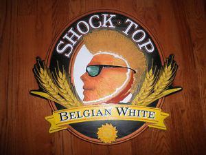 Shock Top Beer Sign.