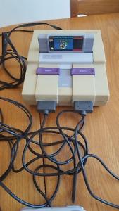 Super Nintendo SNES System + Super Mario World