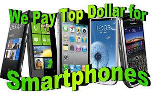 We buy working or broken iphone or samsung call