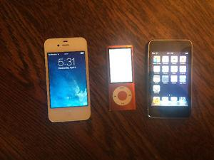 iPhone 4 and 2 iPods