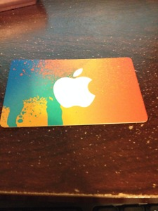itunes gift card for 25$ selling for 20$