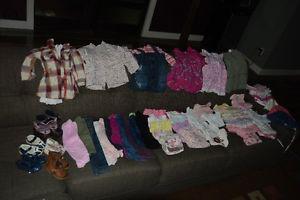lot de vêtements pour fille  mois