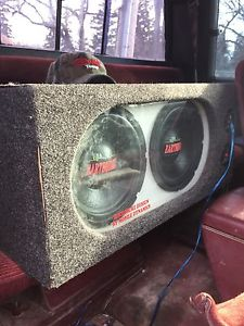 """2 10"""" Earthquakes Subs with Amp and Enclosure"""