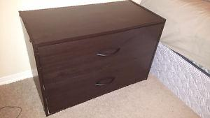 2 Dark Brown Bedside Tables