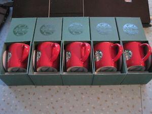 5 Brand New  Starbucks 3 oz Espresso Cups