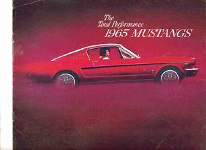 65 Mustang & 65 Fairlane Vintage Auto Dealer sales brochures