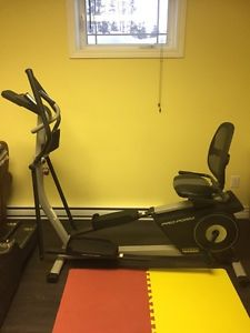 Almost new dual mode Elliptical exercise machine