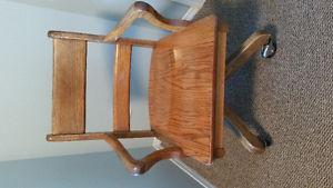 Antique solid wood office chair