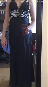 Black full length dress
