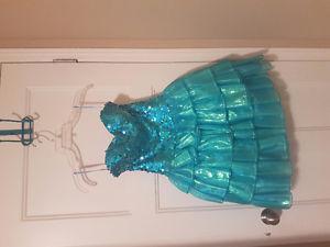 Blue Sequin Grad Dress