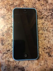 Blue iPhone 5c in mint condition