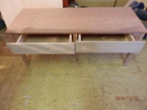 Cherry and Poplar Coffee table with 2 drawers