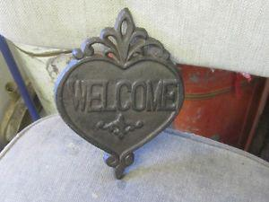 DECORATIVE CAST METAL WELCOME SIGN $20 HOME DECOR