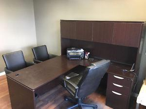 Gently used Mahogany Colour Office Desk / Workstation