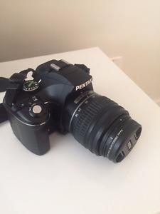 Pentax K-X Digital SLR With 2 Lenses mm mm