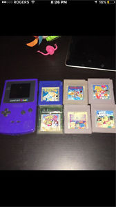 Purple gameboy and 6 games