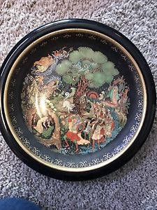 Russian collector plate with hanger
