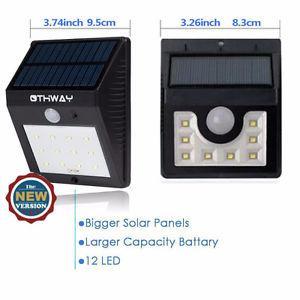 Solar Sensor Light, 12 LED Outdoor Light with AutoDetection