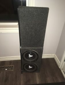 """Two 8"""" JL audio subs with factory Ford box!!!"""